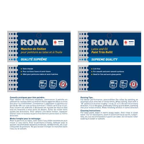 Rona Roller Refill - Lint Free - 100 mm x 10 mm