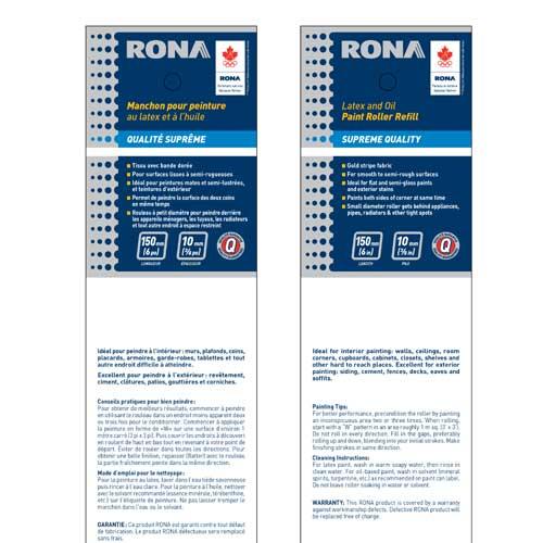 Rona Roller Refill - Lint Free - 150 mm x 12 mm