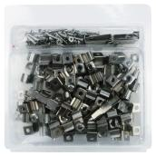 Stainless Steel Clips - Square Holes - 50/Box