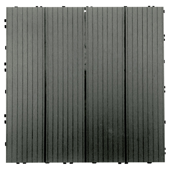 "Composite Patio Tile 16 x 16"" - Box of 6 - Grey"