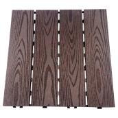 "Composite Patio Tile 12 x 12"" - Box of 10 - Dark Coffee"