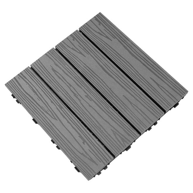 tuile 224 patio composite 12 x 12 gris bo238te de 10 dt
