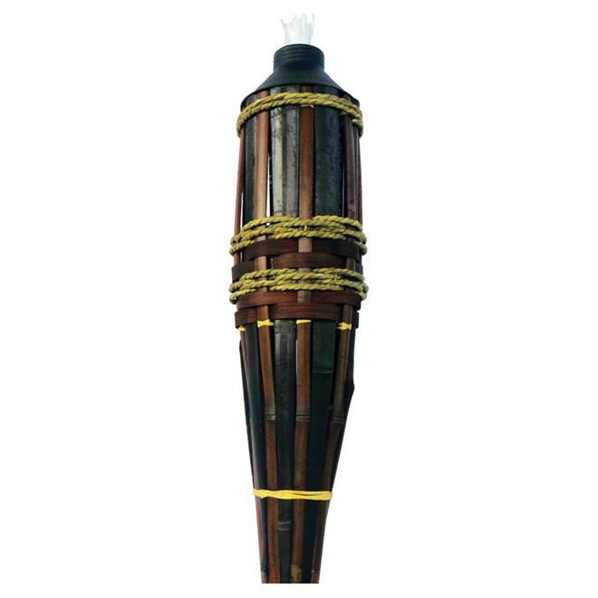 torche de jardin en bambou 60 rona. Black Bedroom Furniture Sets. Home Design Ideas