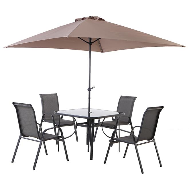 Ensemble à dîner pour patio Florence, gris, 4 places