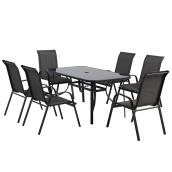 Styles Selections Patio Dining Set Florence - Grey - 6 Places