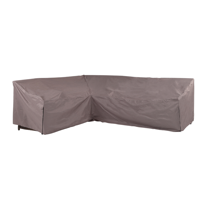 Patio Corner Sofa Cover - Polyester - Grey
