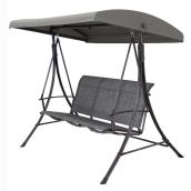 3-Seat Swing with Sun Shade - Manhattan - Grey