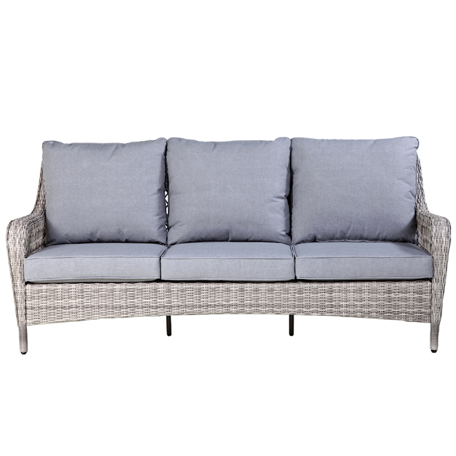 Allen + Roth Parkview Patio Sofa - Grey - 3 Seats
