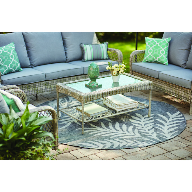 allen + roth Parkview Loveseat and Table Set - 57-in - Grey