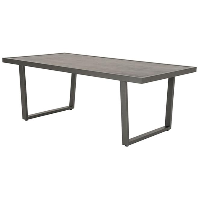 Table à dîner, Allen + Roth, Brokking, acier, 31,5 po x 26,26 po x 55,12 po, gris