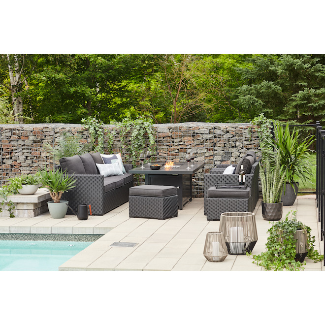 Allen + Roth Kelso Outdoor Furniture Set - 5 Pieces - Grey