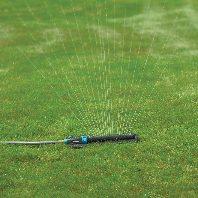 Oscillating Sprinkler with Base -Aqua/Black