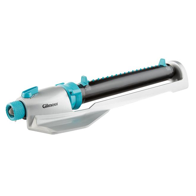Arroseur oscillant avec base, turquoise/gris