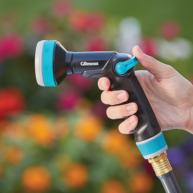 Adjustable Water Spray Gun - Thumb Control - Aqua