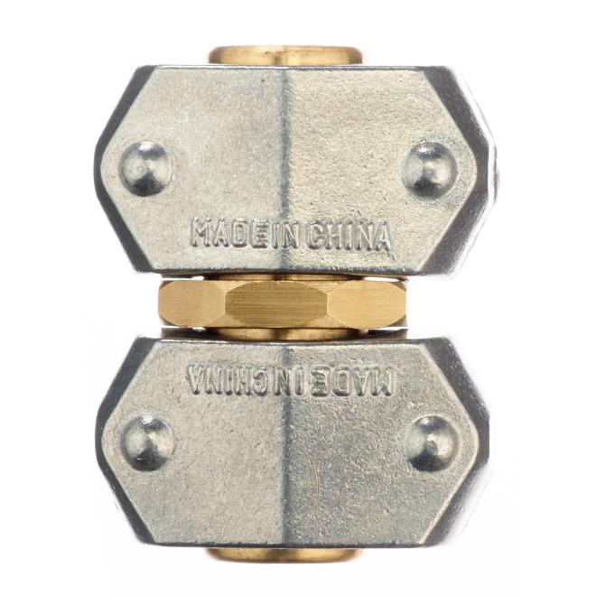 "Metal Hose Mender - Zinc/Brass - 5/8"" or 3/4"""