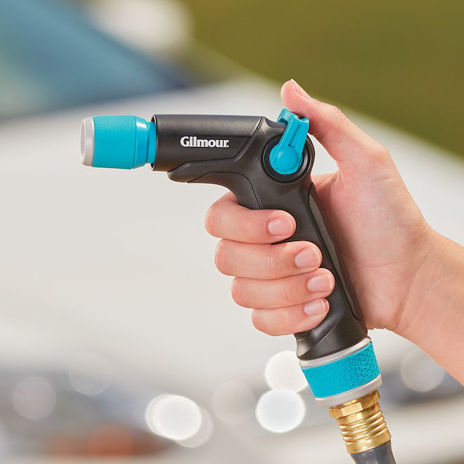 Cleaning Nozzle - Heavy-Duty - Metal - Aqua/Black