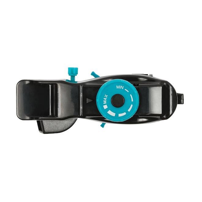Arroseur circulaire ajustable, aqua/noir