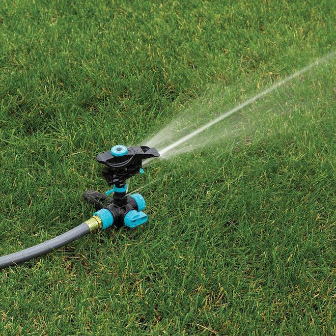 Gilmour Spike Circular Sprinkler - Aqua and Black