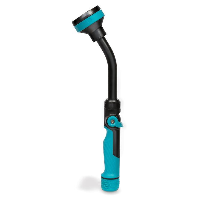 Watering Nozzle Wand - Metal - 3/4'' - Black/Aqua