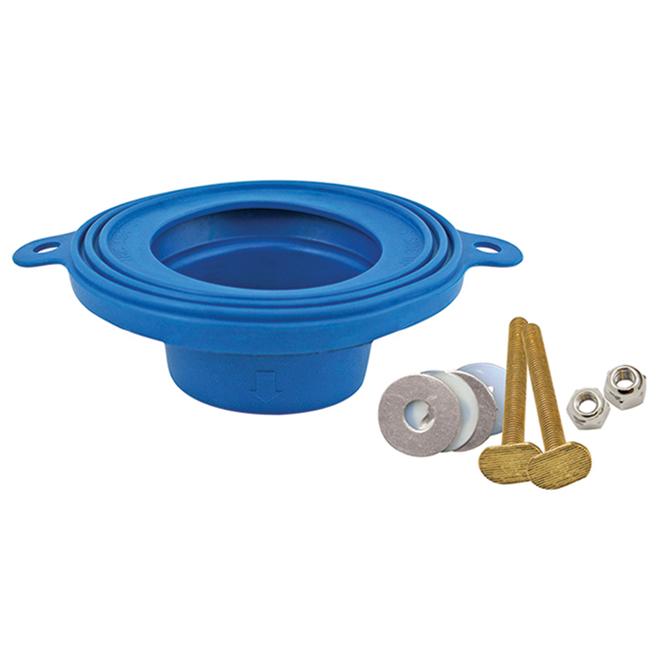 """Toilet Bowl Gasket - 6"""" X 6"""" X 2"""" - Blue"""