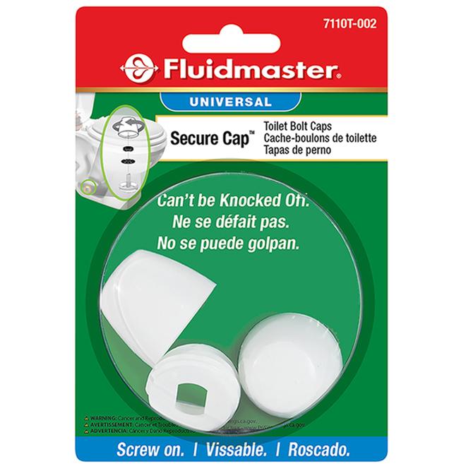 Cache-boulons pour toilette, « Smart Cap », plastique, blanc