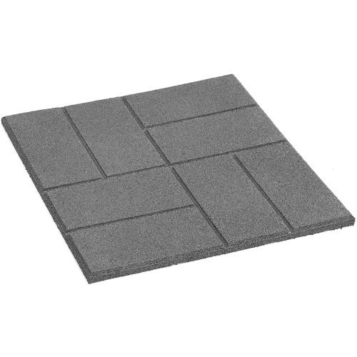 Merveilleux Square Rubber Patio Slab   18 X 18u0027u0027   Grey