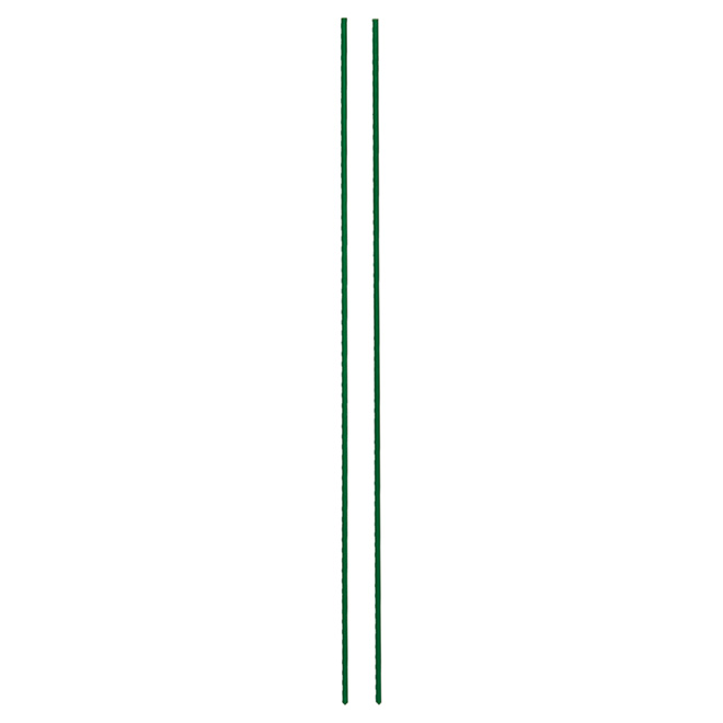 Miracle-Gro Garden Stake - Steel and Plastic Coating - 3-ft - Green - 2-Pack