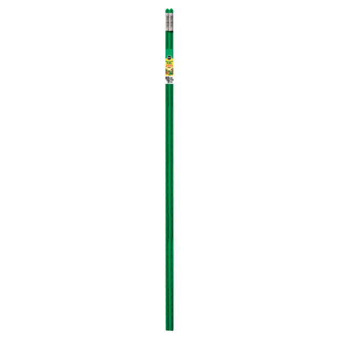 Miracle-Gro Garden Stake - Steel and Plastic Coating - 4-ft - Green - 2 Pack