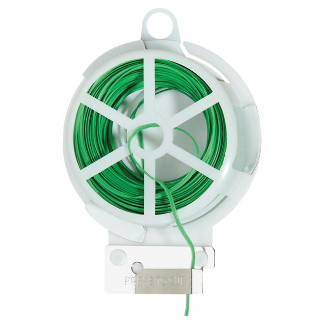 Rouleau d'attache pour plante Miracle-Gro, lien torsadé, 80 pi, vert
