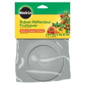 """Ruban réflecteur Fruitsaver Miracle-Gro, 3/4"""" x 120', plastique, argent"""