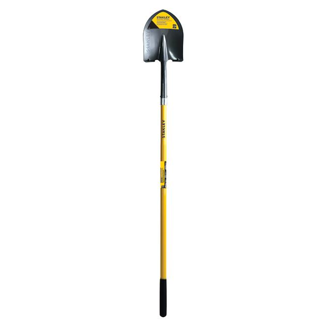 Shovel - Round - Steel - Fiberglass Handle