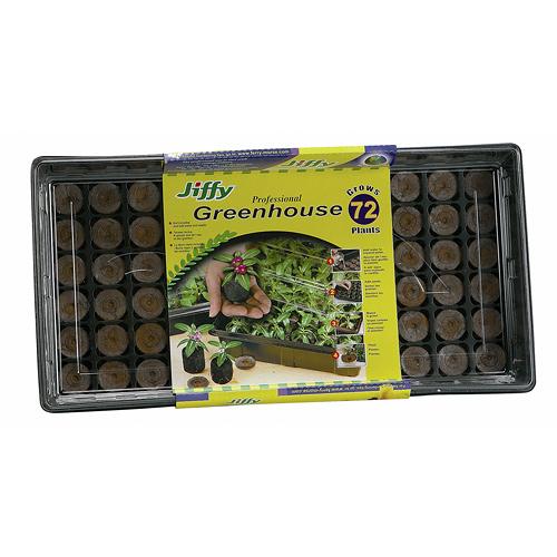 Serre miniature professionnelle Jiffy, 72 cellules, noir