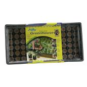 Jiffy Miniature Professional Greenhouse - 72 Cells - Black