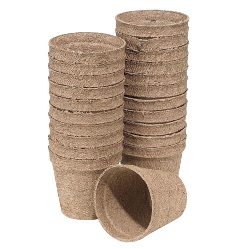 Pots Jiffy pour plantation biodégradables 3 po