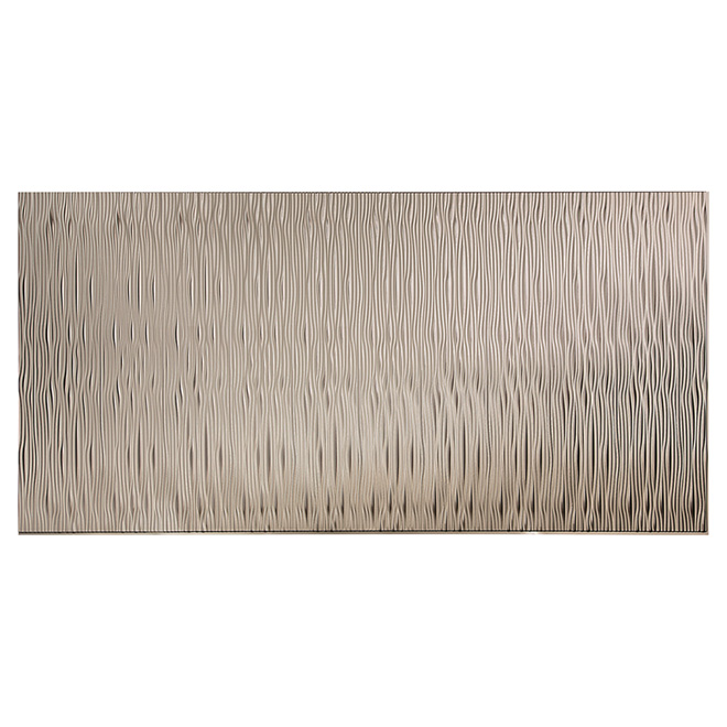 """Vertical Waves"" Wall Panel - 4 x 8' - Brushed Nickel"
