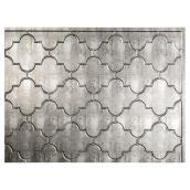 Backsplash Panel - Monaco - PVC - Silver