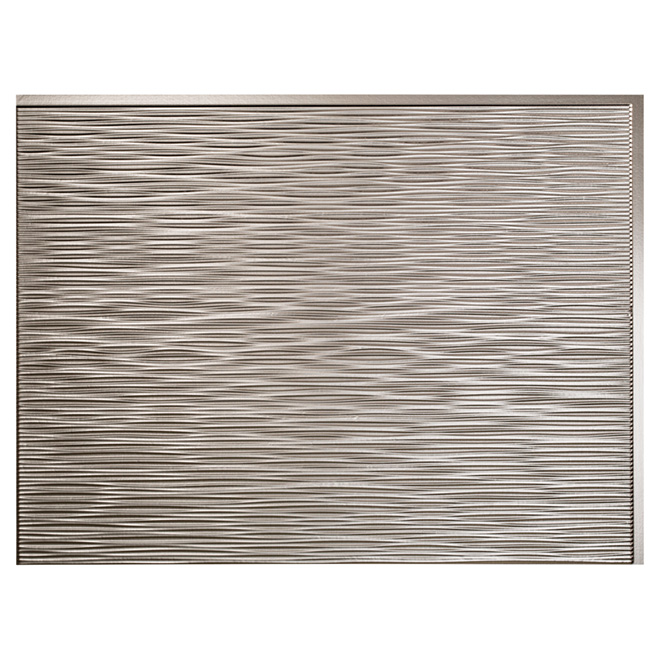 Backsplash Panel - Ripple - PVC - Brushed Nickel