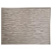 Backsplash Panel - Ripple - PVC - Brushed Nickel