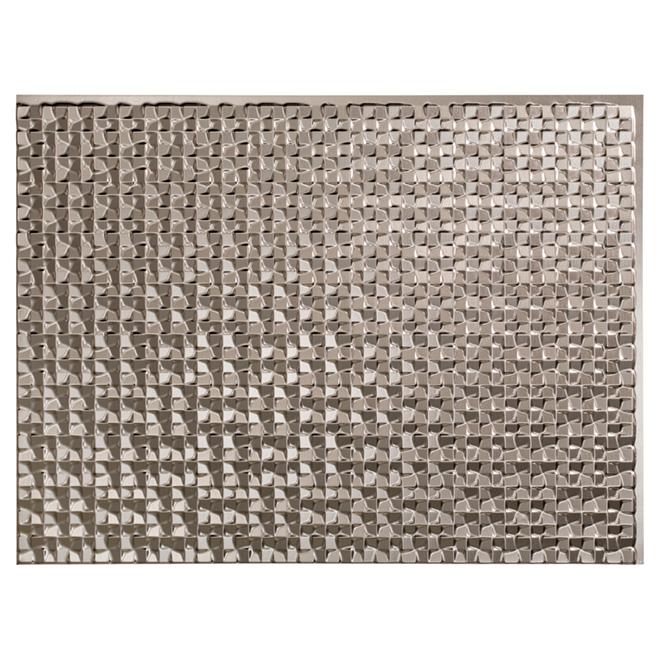 Panneau de dosseret Terrain, PCV, aluminium brossé