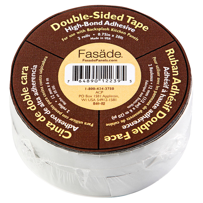 Double-Sided Panel Tape - Black - 20' - 2/Pack
