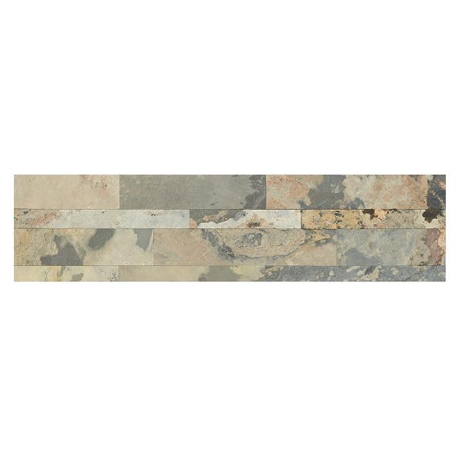 "Stone Tiles - Self Adhesive - 6"" x 24"" - Slate"