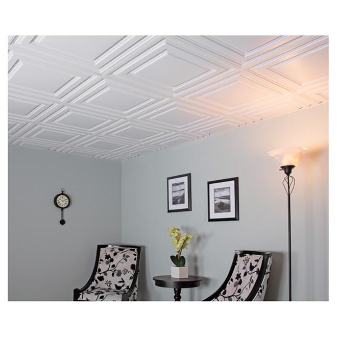 Ceiling Tiles - 2' x 2' - White - Box of 12