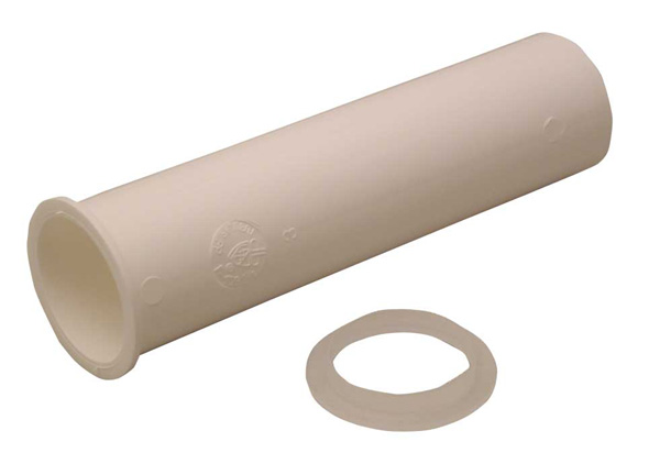 Flanged Tailpiece with Washers - Plastic - 1 1/2'' x 6''
