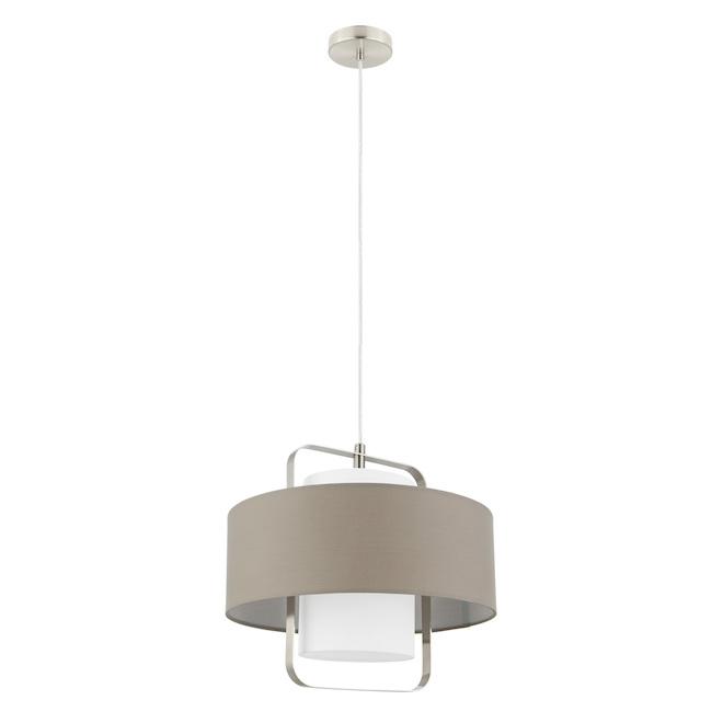 Suspension 1 lumière Fontao, DEL, 10 W, nickel satiné