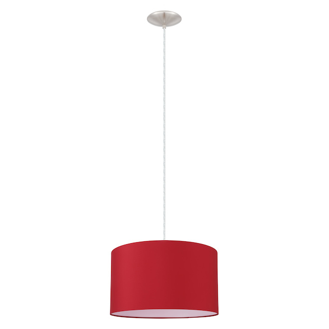 Luminaire suspendu Eglo, Mandana, nickel/rouge