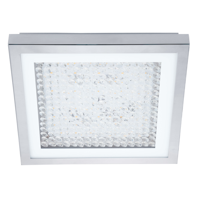 Eglo Acolla LED Modern Square Ceiling Light - 16-W - 12.6-in - Chrome