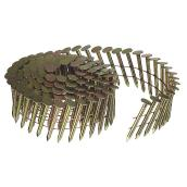 "Roofing Nails - 15° Coil - Galvanized - 1 1/2"" - 7200/Box"