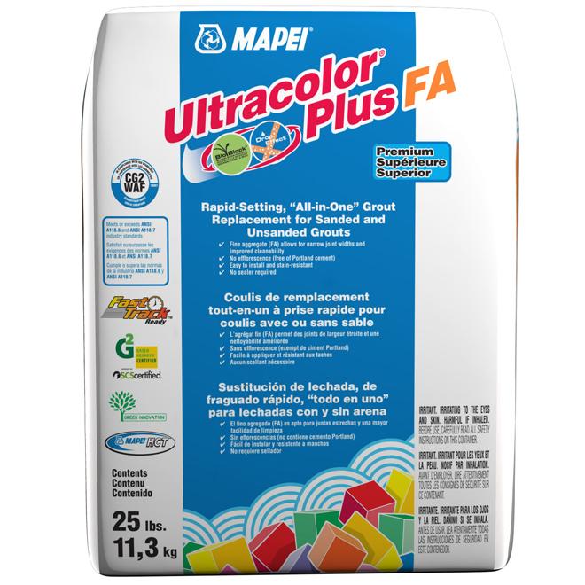 Coulis pour plancher «Ultracolor Plus» 11.3kg - Argent