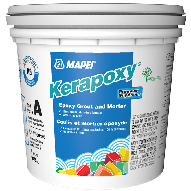 """Kerapoxy"" Stain-Free Grout and Mortar 945ml - Pewter"