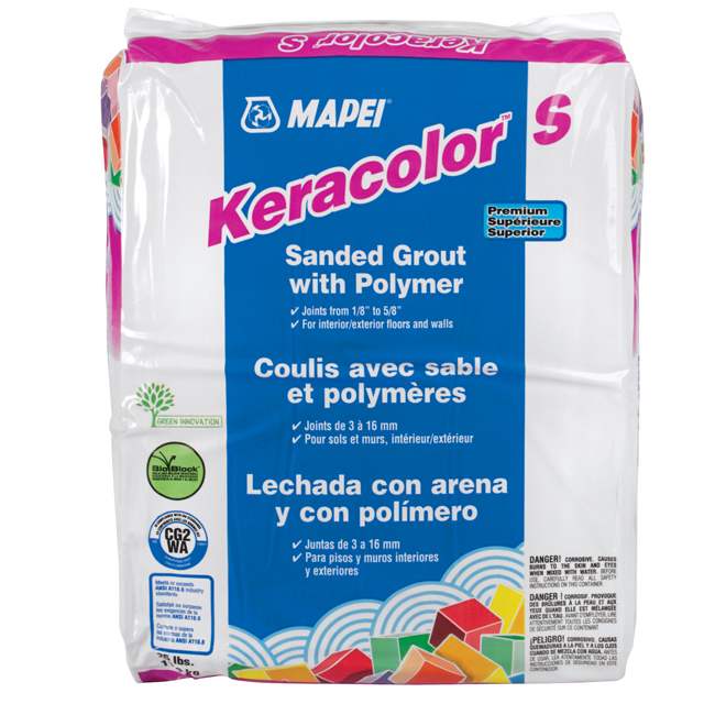 """Keracolor S"" Sanded Grout 11,3kg - Pewter"